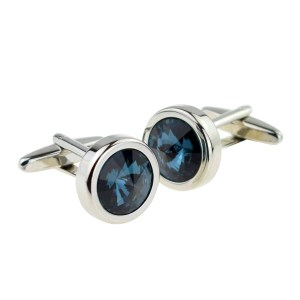 Dark Blue Crystal Cufflinks