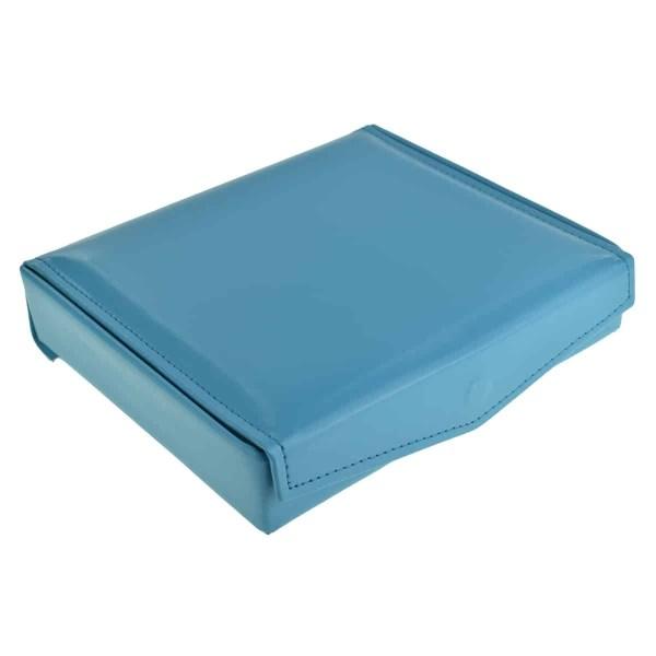Faux Blue Leather Effect Cufflink Case