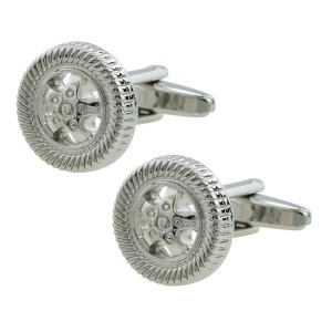 Alloy Wheel Style Cufflinks