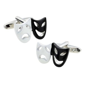 Opera mask inspired cufflinks