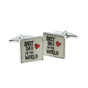 Best dad worded cufflinks