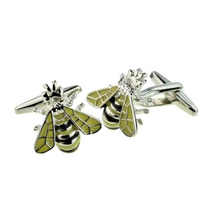 Honey bumble bee cufflinks