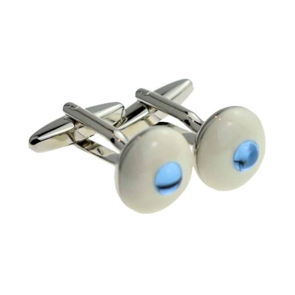 Blue eyeball inspired cufflinks