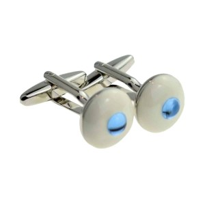 Blue eyeball inspired cufflinks