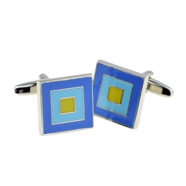 Blue and green classic cufflinks