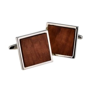 square briar wood cufflinks