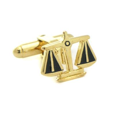 gold legal scales cufflinks