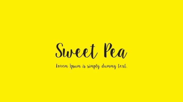 sweet pea font # 12