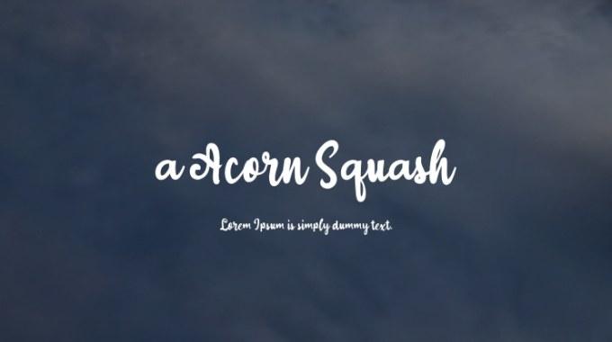 A Acorn Squash Font Download Free For Desktop Webfont