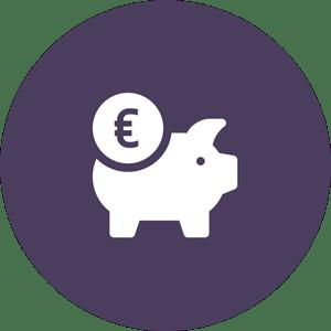 Pictogramme économiser en améliorant les bien-être des salariés