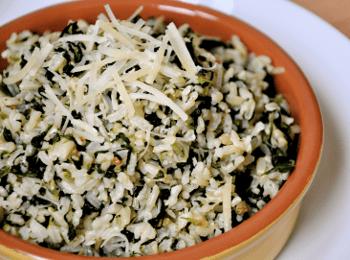 Guisado de arroz y acelga
