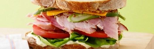 sandwich jamon verdura
