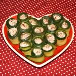 roules courgette thon - Roulés aux courgettes et au thon