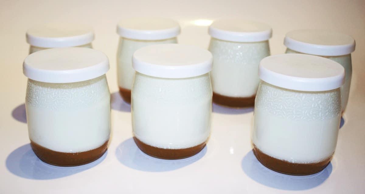 Recette de Yaourts au caramel au beurre salé