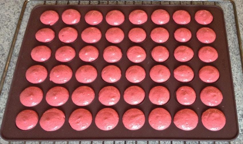 macarons tomate chèvre basilic prepa 3 - Macarons tomate, chèvre et basilic