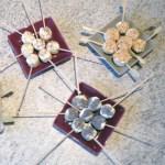 amuse bouche coeurs de palmier 1 - Coeurs de palmier au fromage et sésame grillé