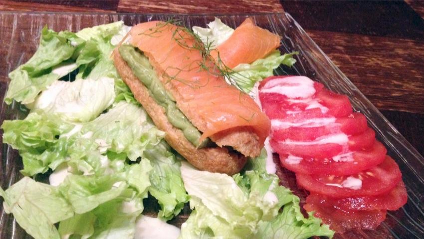 Recette d'Eclairs au saumon et à l'avocat