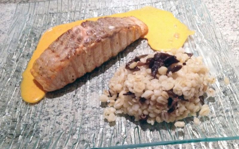 Pavé de Saumon sauce Aurore