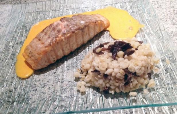 Recette de Pavé de Saumon sauce Aurore