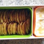 bento pommes poelees miel 2 - Bento Fromage blanc et Pommes poêlées au miel