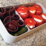 bento viande grisons tomates farcies 3 - Bento mini tomates farcies et viande séchée des Grisons