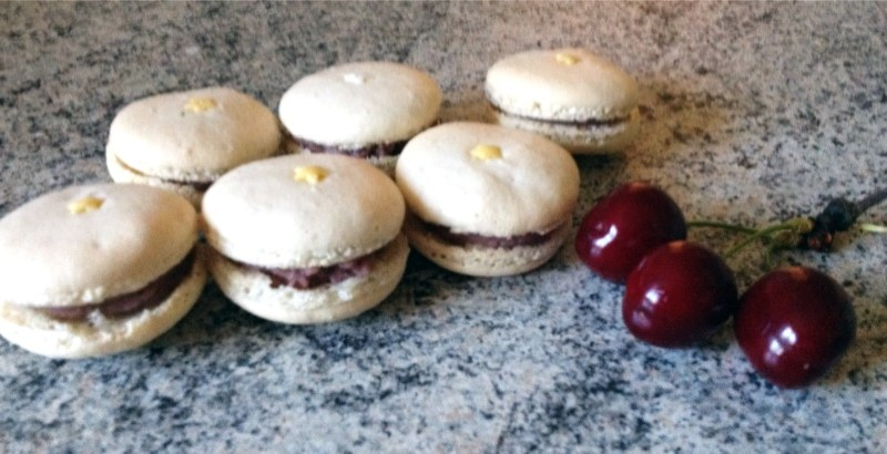 Macarons Chocolat blanc et Cerise