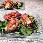salade reblochon pané 1 - Salade et croûtons au reblochon pané
