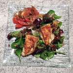 salade reblochon pané 2 - Salade et croûtons au reblochon pané