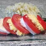 tomate mozzarella oeuf mimosa 3 - Tomates Mozzarella Mimosa