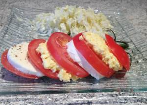 Recette de Tomates Mozzarella Mimosa