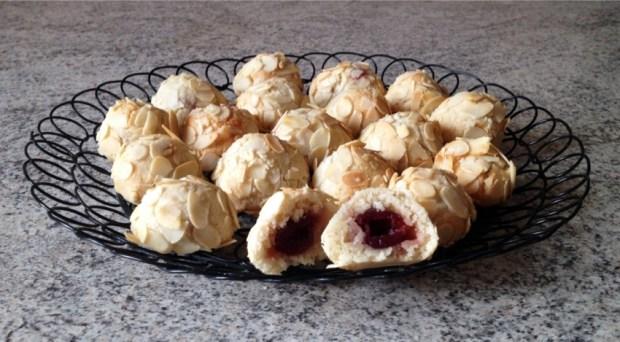 biscuits siciliens amande griotte 3 - Dossier : Recettes pour la Saint-Valentin