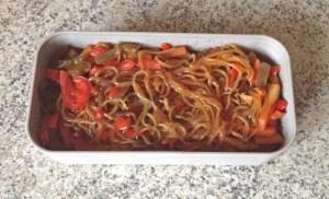 bento shirataki sautes legumes 2 - Shirataki de konjac aux légumes façon chop suey