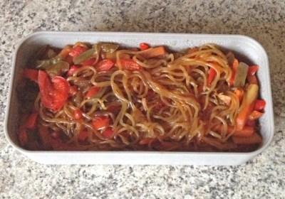 Recette de Shirataki de konjac aux légumes façon chop suey
