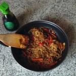 bento shirataki sautes legumes prepa 3 - Shirataki de konjac aux légumes façon chop suey