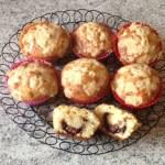 muffins crumble nutella 3 - Muffins au Nutella façon crumble