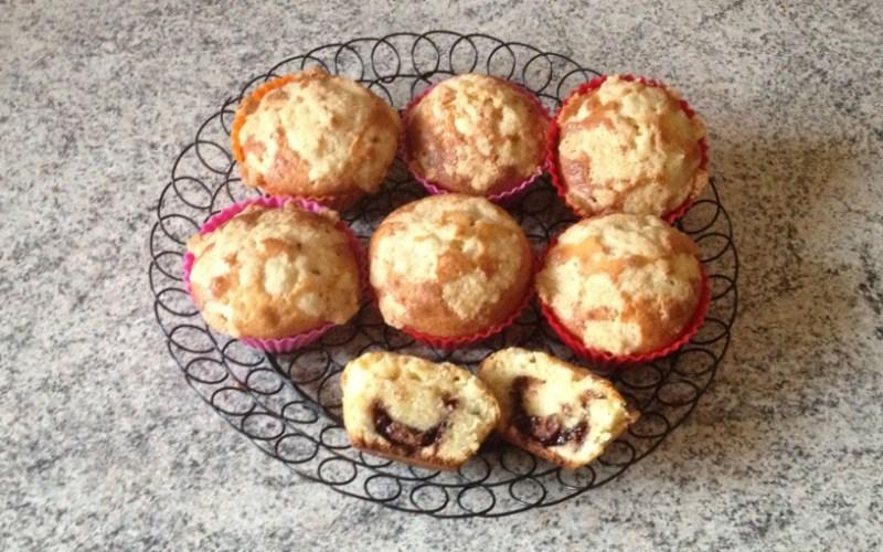 muffins crumble nutella 3 - Zebra cake vanille-chocolat (Gâteau zébré / tigré)