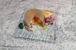 oeufs gelee endives jambon 2 - Oeufs pochés en gelée, endives, jambon et pignons de pin