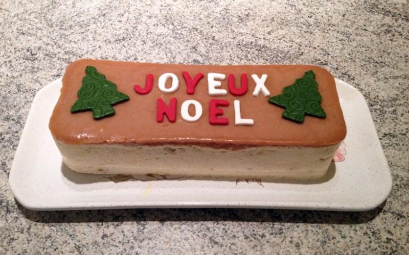 nougat glace poire caramel 1 - Zebra cake vanille-chocolat (Gâteau zébré / tigré)