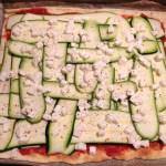 pizza courgettes mozzarella amandes prepa 4 - Pizza courgettes, amandes, mozzarella