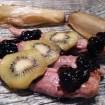 Recette d'Aiguillettes de canard gras et confit balsamique au kiwi