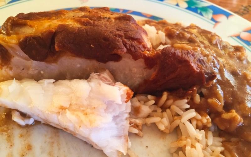 Queues de lotte et sauce au homard