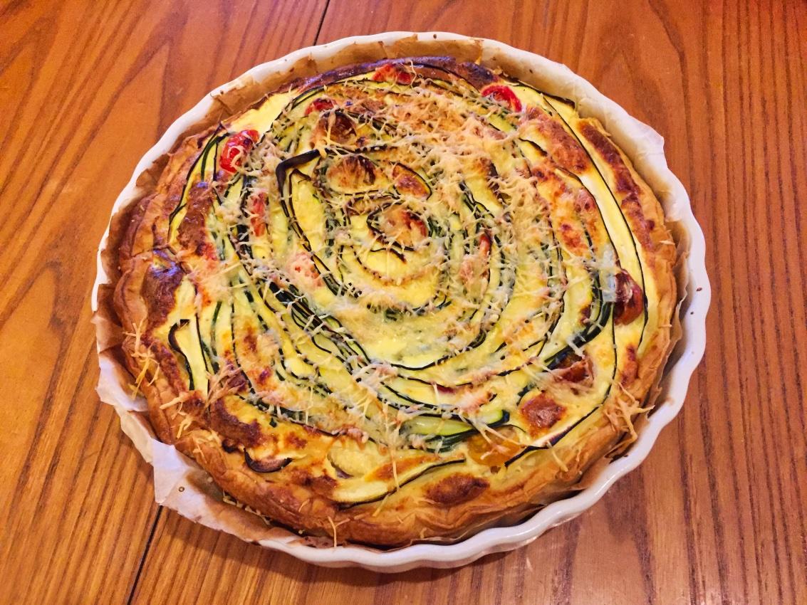 quiche aux legumes 1 - Quiche aux lardons et légumes