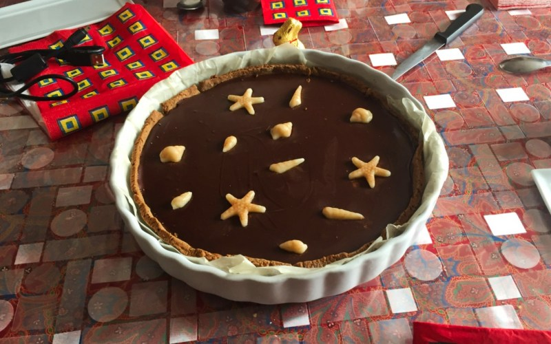 tarte chocolat caramel 2 - Zebra cake vanille-chocolat (Gâteau zébré / tigré)