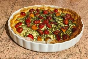 tarte chevre courgettes tomates lardons 1 -