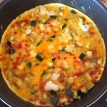 omelette courgette poivron prepa 4 - Omelette courgette, oignon, poivron