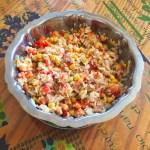 salade riz thon mais poivron 1 - Salade de riz au thon, maïs et poivron