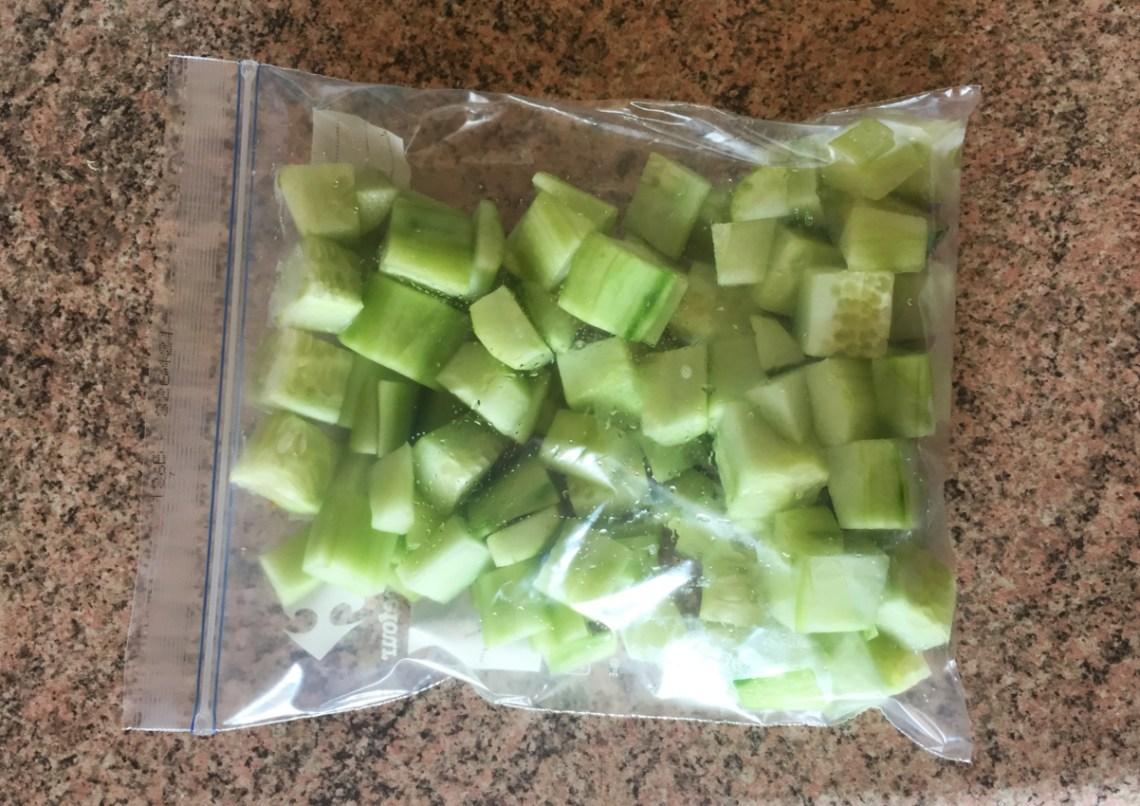 sorbet concombre prepa 2 - Sorbet au concombre (recette Companion)