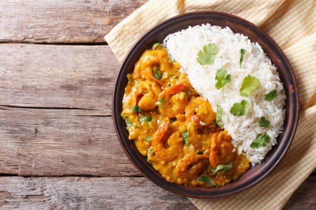 curry crevettes - Dossier : Recettes pour la Saint-Valentin