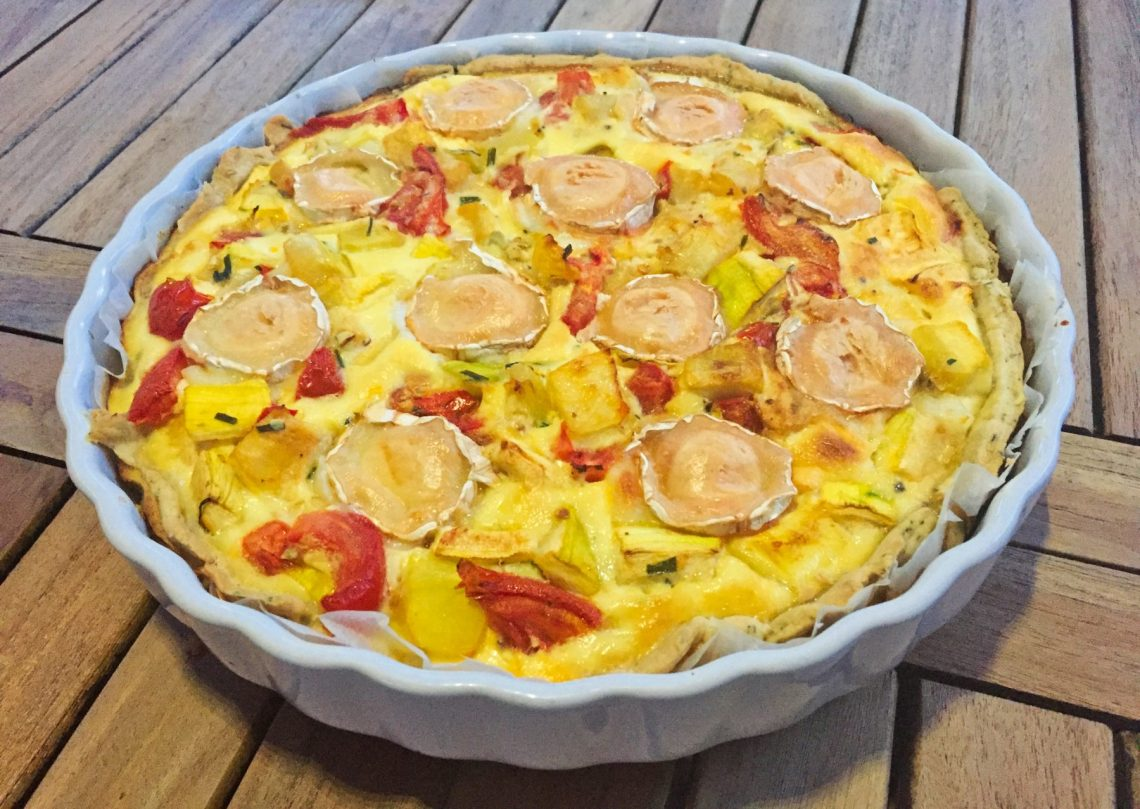 IMG 0699 - Tarte Courgettes, tomates, chèvre