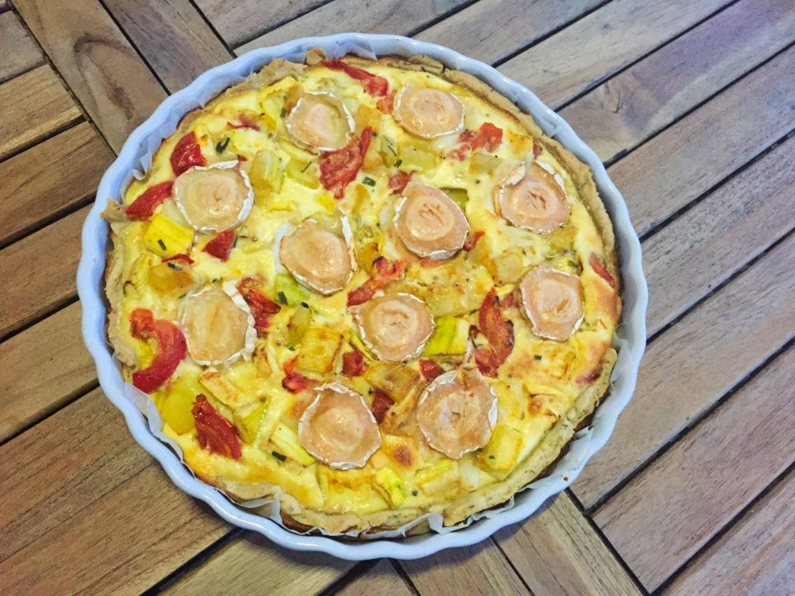 IMG 0700 - Tarte Courgettes, tomates, chèvre